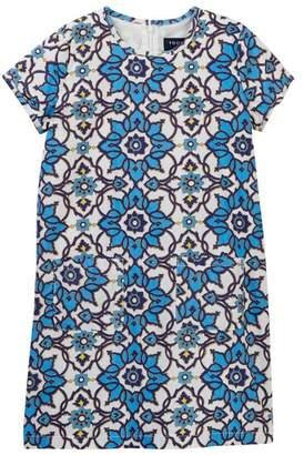 Toobydoo Fleur Blue Shift Dress (Toddler, Little Girls, & Big Girls)