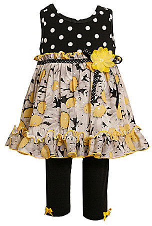 Bonnie Jean Girls 2T-6X Daisy Dress & Legging Set