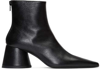 MM6 MAISON MARGIELA Black Chunky Heel Ankle Boots