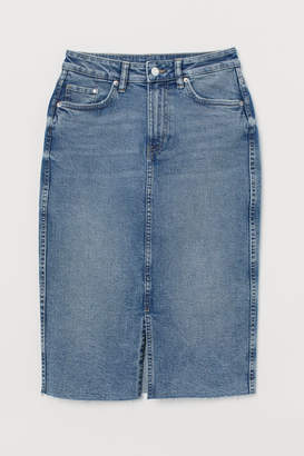 H&M Denim Pencil Skirt - Blue
