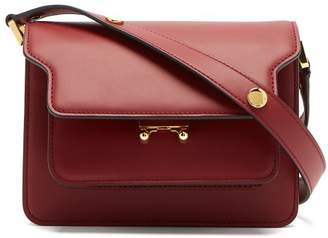 Marni - Trunk Mini Calf Leather Cross Body Bag - Womens - Burgundy