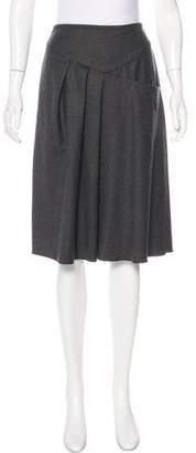 Derek Lam A-Line Virgin Wool Skirt