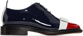 Thom Browne Tricolor Patent Leather Bow Oxfords $1,200 thestylecure.com