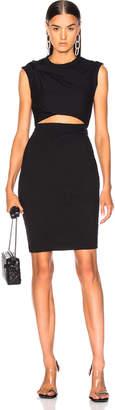 Alexander Wang Compact Shoulder Twist Dress in Black | FWRD