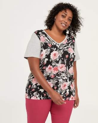 Penningtons Floral Printed Knit Top - In Every Story