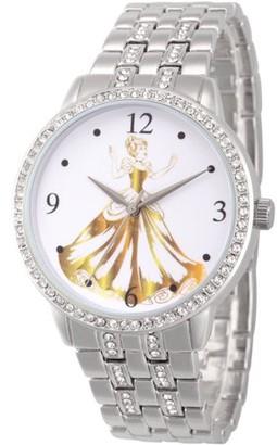 Disney Princess Cinderella Women's Silver Alloy Glitz Watch, Silver Alloy Bracelet