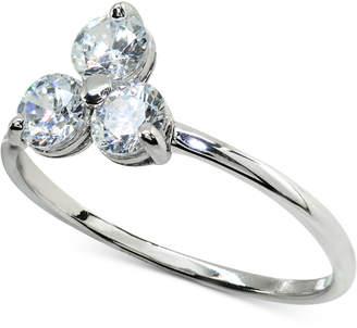 Giani Bernini Cubic Zirconia Triple Stone Ring in Sterling Silver