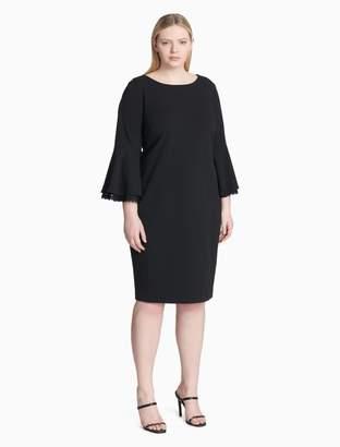 Calvin Klein plus size bell sleeve lace sheath dress