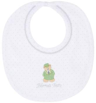 Harrods Green Bear Bib