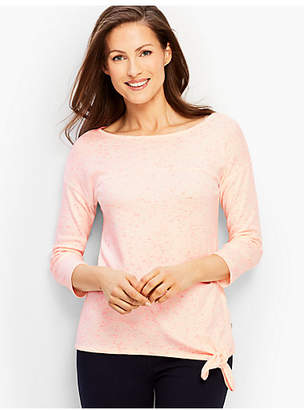 Talbots Patch-Dye Tie-Front Boatneck Top