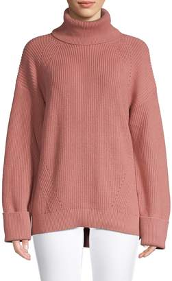 Joie Ribbed Cotton Cashmere-Blend Sweater