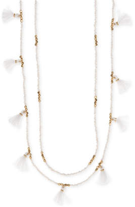 "lonna & lilly Gold-Tone Beaded Tassel 30/32"" Layered Necklace"