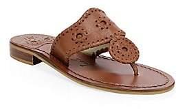 Jack Rogers Women's New Noah Leather Toe Thong Slides Sandals