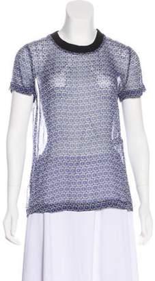 Diane von Furstenberg Albyn Silk Top Blue Albyn Silk Top