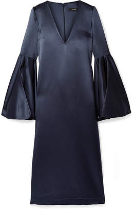 Ellery Clover Silk-satin Midi Dress - Navy