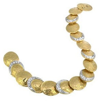 Torrini Lenticchie - 18K Gold and Diamond Bracelet