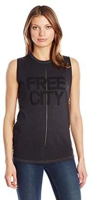 Freecity Women's Str8up Golden Pins Sleeveless T-Shirt