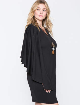 ELOQUII High Low Cape Dress
