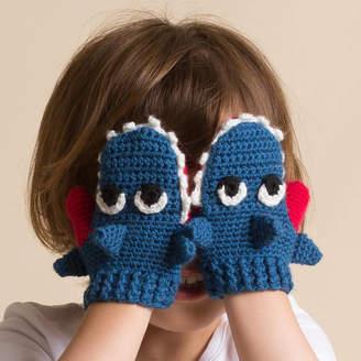 attic Hand Crochet Children Shark Mittens