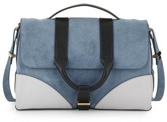 Jason Wu Hanne Suede & Leather Messenger Bag, Dark Plexi $1,295 thestylecure.com
