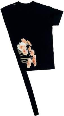 Petja Zorec Black Asymetrical Bouquet T-Shirt