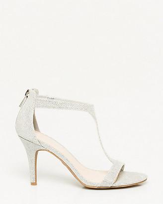 Le Château Glitter Mesh T-Strap Sandal
