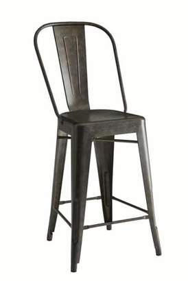 Coaster Company Rustic Bar Stool Set of Two, Antique Bronze