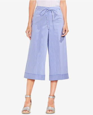 Vince Camuto Striped Cropped Wide-Leg Pants