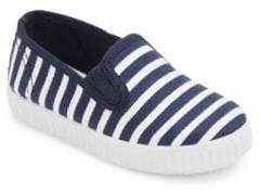 Cienta Girl's Striped Slip-On Sneakers