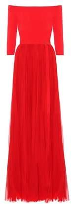 Alexander McQueen Off-the-shoulder silk gown