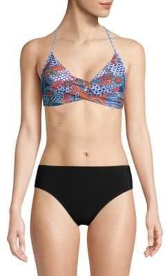 Twist Printed Bikini Top