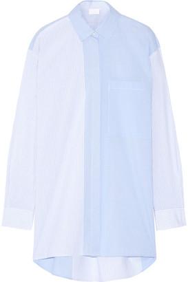 DKNY - Striped Cotton-poplin Shirt - Sky blue $465 thestylecure.com