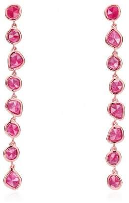 Monica Vinader Rose Gold Vermeil Siren Pink Quartz Mini Nugget Cocktail Earrings