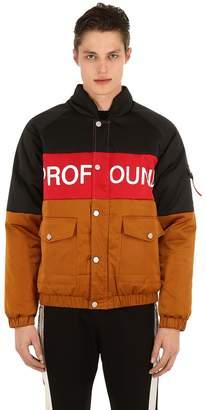 Three Tone Nylon Puffer Jacket