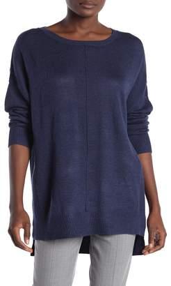 Magaschoni M BY Crew Neck Center Seam Pullover Sweater