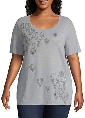 ST. JOHN'S BAY High-Low Graphic Tee - Plus