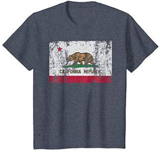 State of California Flag Retro Vintage Distressed T-Shirt