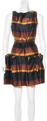Marc by Marc Jacobs Striped Pleated Dress