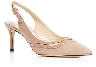 Jimmy Choo Women's Harrison 65 Suede & Patent Leather Slingback Mid Heel Pumps