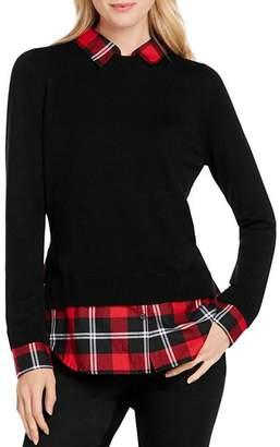Foxcroft Shoshana Layered Look Sweater