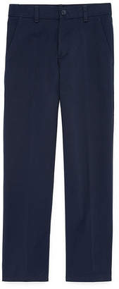 Izod EXCLUSIVE Boys Flat Front Reinforced Knee Pant - 4-20 Reg, Slim & Husky