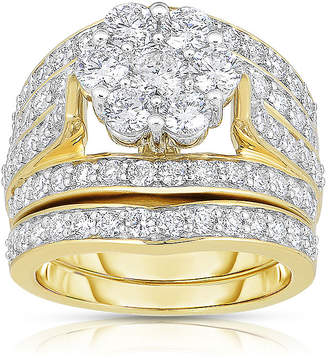 JCPenney MODERN BRIDE 3 CT. T.W. Diamond 14K Yellow Gold Bridal Ring Set