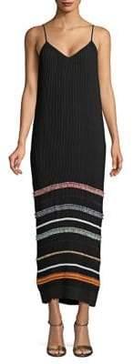 Derek Lam Accordion Pleated Maxi Dress