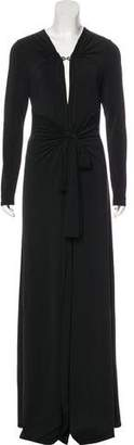 Halston Maxi Slit-Accented Dress w/ Tags