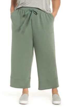 Caslon Off Duty Easy Drawstring Pants (Plus Size)