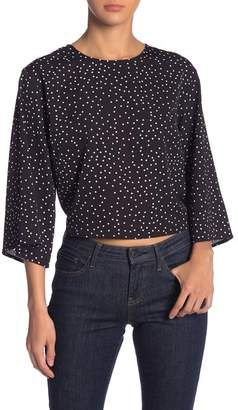 Lush Bubble Crepe Print Blouse