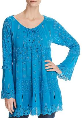 Johnny Was Eyelet Tiered Tunic