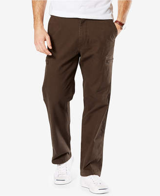 Dockers Men Utility Cargo Classic Fit Stretch Khaki Pants