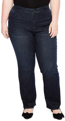 Liz Claiborne Flexi Fit Bootcut Denim Pant - Plus