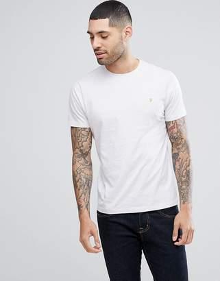 Farah Denny Slim Fit Logo T-Shirt In Lilac Marl